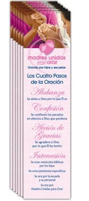4 Steps of Prayer - Spanish Bookmark, 40 pack   -