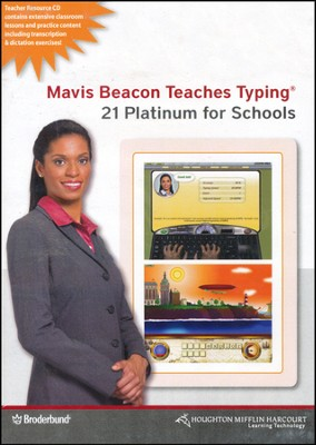 Mavis Beacon Teaches Typing Platinum 21 School Ed. CD-ROMs  -