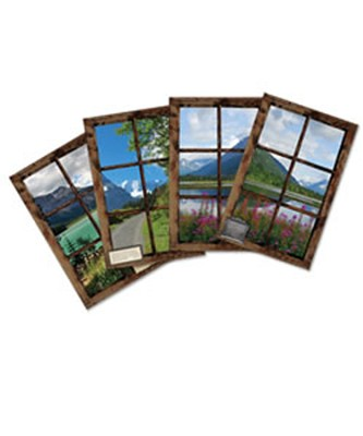 Cozy Mountain Lodge, Women's Retreat: Decorating Poster Set, 4  -