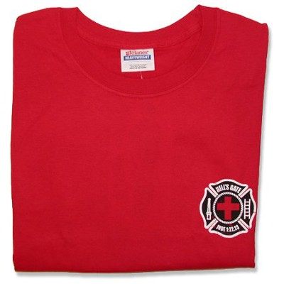 Fire & Rescue T-Shirt, Red, Youth Large (14-16)   -