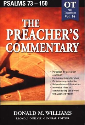 The Preacher's Commentary Vol 14: Psalms 73-150   -     By: Donald M. Williams
