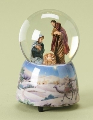 Musical Waterglobe, Holy Family  -