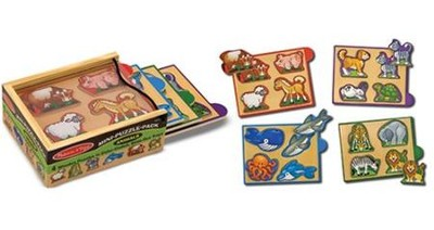 Animals Mini-Puzzle Pack  -     By: Melissa & Doug