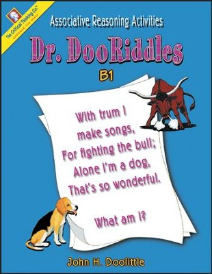 Dr. DooRiddles Associative Reasoning Activities Grades 4-6 Ability Book B1  -     By: John H. Doolittle