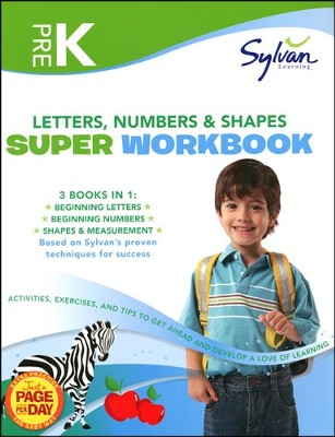 Pre-K Letters, Numbers & Shapes Super Workbook (Sylvan Super Workbooks)  -     By: Sylvan Learning