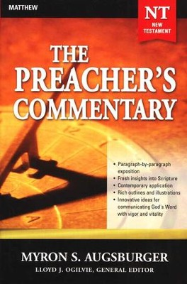 The Preacher's Commentary: Volume 24 Matthew   -     By: Myron S. Augsburger