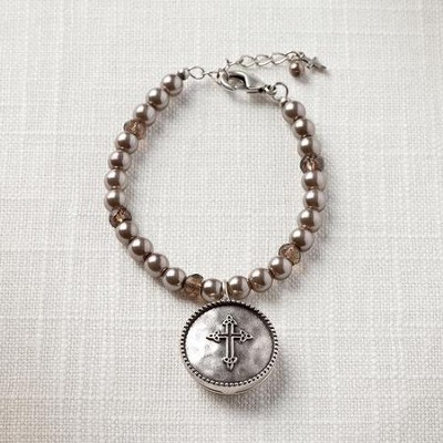 Faith Cross Locket Bracelet  -
