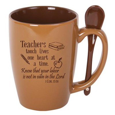 Teachers Touch Lives Mug with Spoon   -