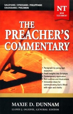 The Preacher's Commentary Volume 31: Galatians-Philemon    -     By: Maxie Dunnam