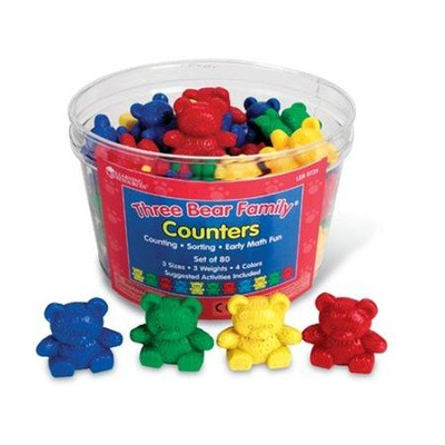 Three Bear Family Counter (Basic set of 80)   -