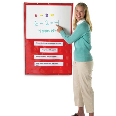 Write-On/Wipe-Off Magnetic Hanging Pocket Chart  -