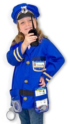 Police Officer, Play Costume Set  -