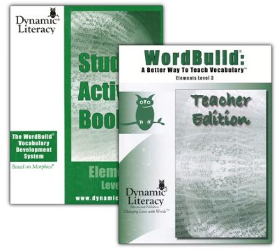WordBuild &#174: A Better Way To Teach Vocabulary Elements 3 Combo Pack  -