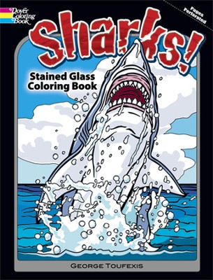 Sharks! Stained Glass Coloring Book  -     By: George Toufexis