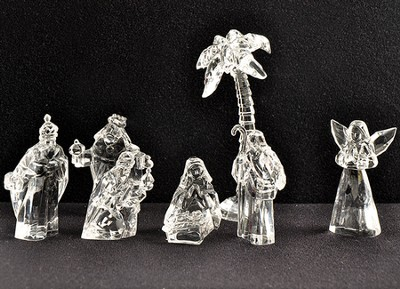 Clear Nativity Figurines, Set of 7   -