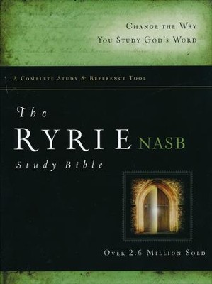 Ryrie NAS Study Bible Bonded Leather Black, Red Letter, Indexed  -     By: Charles C. Ryrie
