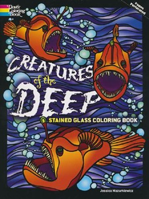 Creatures of the Deep Stained Glass Coloring Book  -     By: Jessica Mazurkiewicz