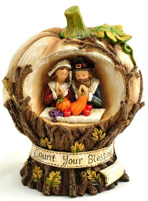 Count Your Blessings Pumpkin Figurine   -