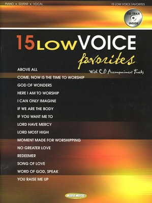 15 Low Voice Favorites with CD Accompaniment Tracks   -