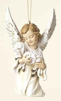 Angel with Lamb Ornament  -