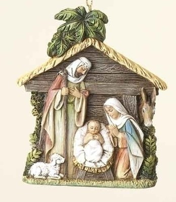 Holy Family in Stable, Ornament   -     By: Joseph Studio