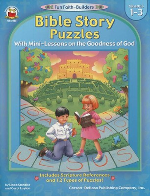 Bible Story Puzzles with Mini-Lessons on the Goodness of God Grades 1-3  -     By: Linda Standke, Carol Layton