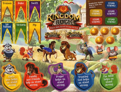 Kingdom Rock Sticker Sheets, Package of 10 Sheets  -