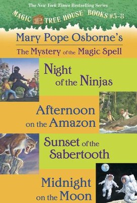 Magic Tree House: Books 5-8 Ebook Collection: Mystery of the Magic Spells / Combined volume - eBook  -     By: Mary Pope Osborne     Illustrated By: Sal Murdocca