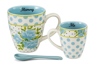 Mommy and Me Mug Set, Aqua  -