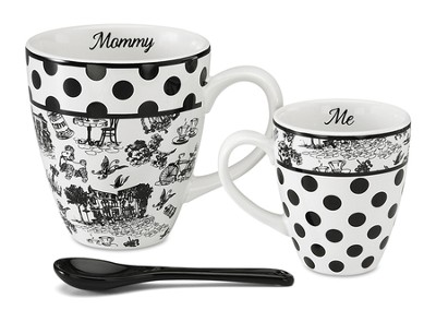 Mommy and Me Mug Set, Black and White  -