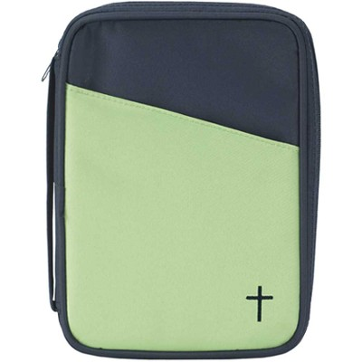 Thinline Bible Cover with Cross, Lime and Blue  -