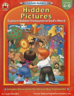 Hidden Pictures Explore Hidden Treasures in God's Word Grades 4-6  -     By: Linda Standke