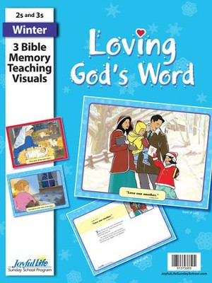 Loving God's Word (ages 2 & 3) Bible Memory Verse Visuals  -