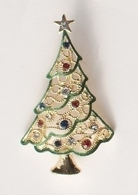 Christmas Tree Lapel Pin  -