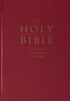 ESV Pew and Worship Bible, Large-Print--hardcover, dark red  -
