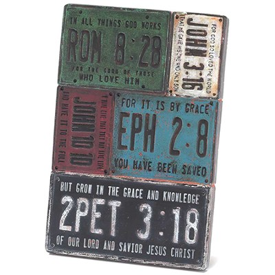 License Plate Tabletop Plaque  -