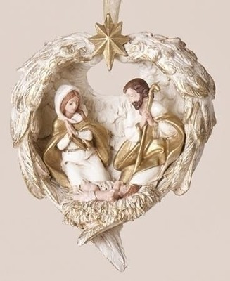 Holy Family in Wings Ornament  -