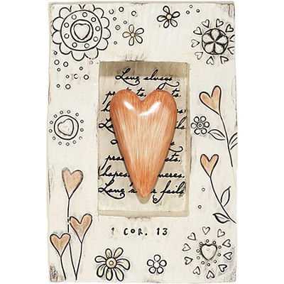 Love Never Fails Plaque, with Heart  -