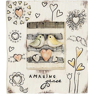 Amazing Grace Plaque, with Birds  -