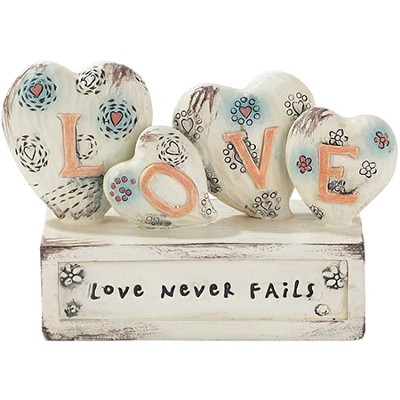 Love Never Fails, Hearts Figurine  -