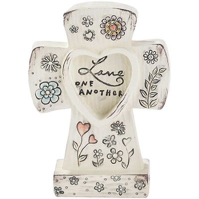 Love One Another Tabletop Cross  -