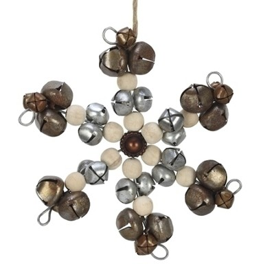Bell Snowflake Ornament  -