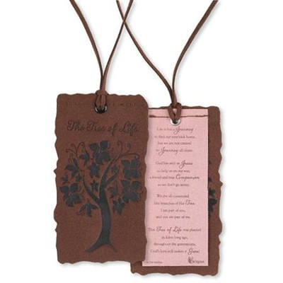 Tree of Life Suede Bookmark  -