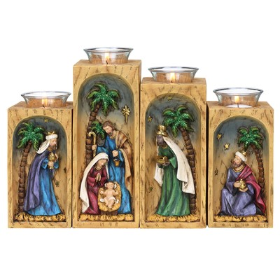 Votive Holder with Glass Cups  -