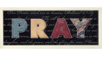 Pray, The Lords Prayer Plaque  -