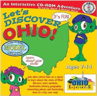 Let's Discover Ohio CD-Rom, Grades 2-8   -     By: Carole Marsh