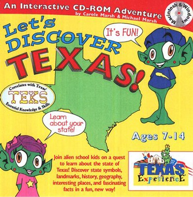 Let's Discover Texas CD-ROM, Grades 2-8   -     By: Carole Marsh