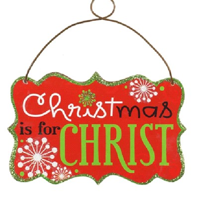 Christmas Is For Christ Ornament  -