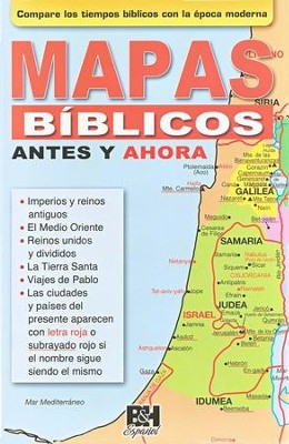 Mapas Bíblicos Antes y Ahora - Pamfleto  (Then and Now Bible Maps Pamphlet)  -     By: Holman Bible Editorial Staff