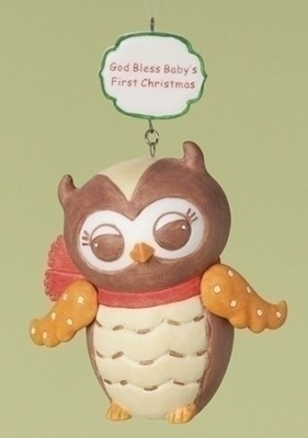 Owl, Baby's First Christmas Ornament  -